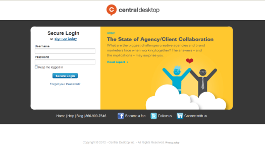 Login screen promoted content-marketing assets