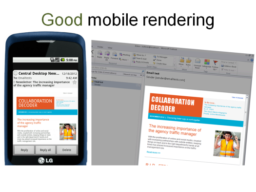Mobile rendering PDF